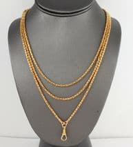 Antique Victorian 15Ct Gold Watch Guard Chain / Necklace 60 1/4''